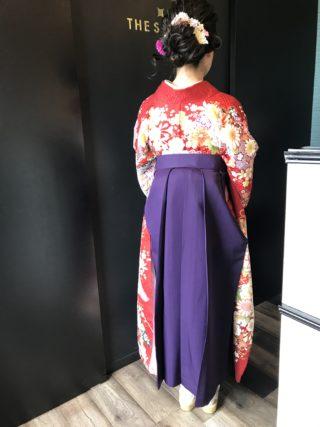卒業式 袴 和装セット ヘアセット 謝恩会 美容室 鳥栖 コレバ セット アレンジ ネイル ジェルネイル