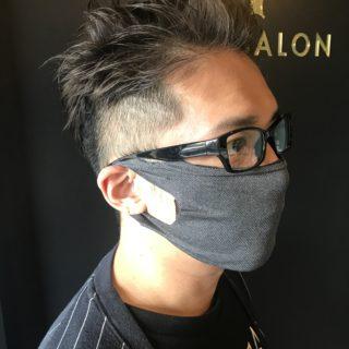 マスクを作ろう縫わない切るだけ美容室コレバいい感じのフィット感